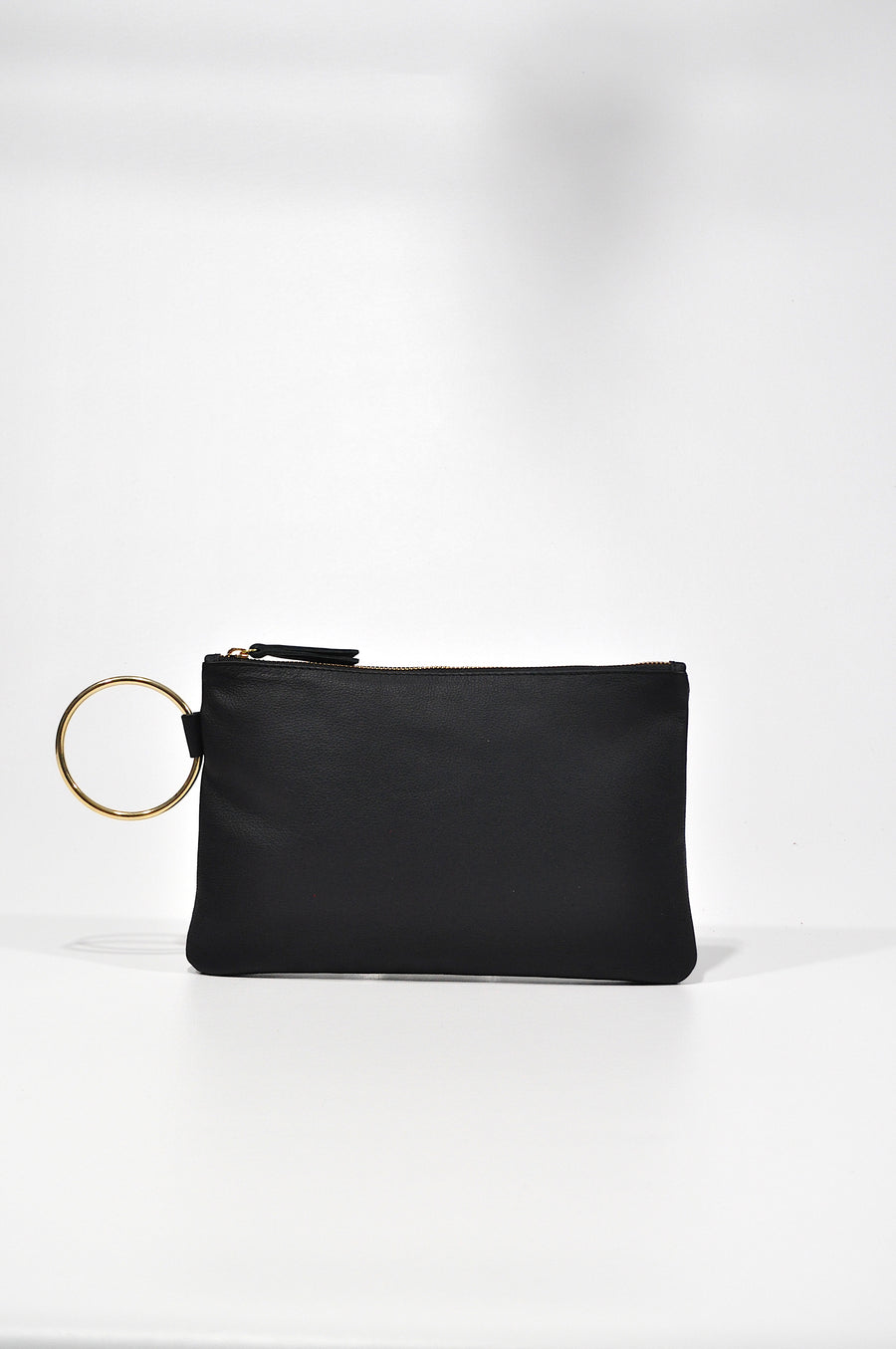Gavi Leather Clutch - Black - Positive Elements