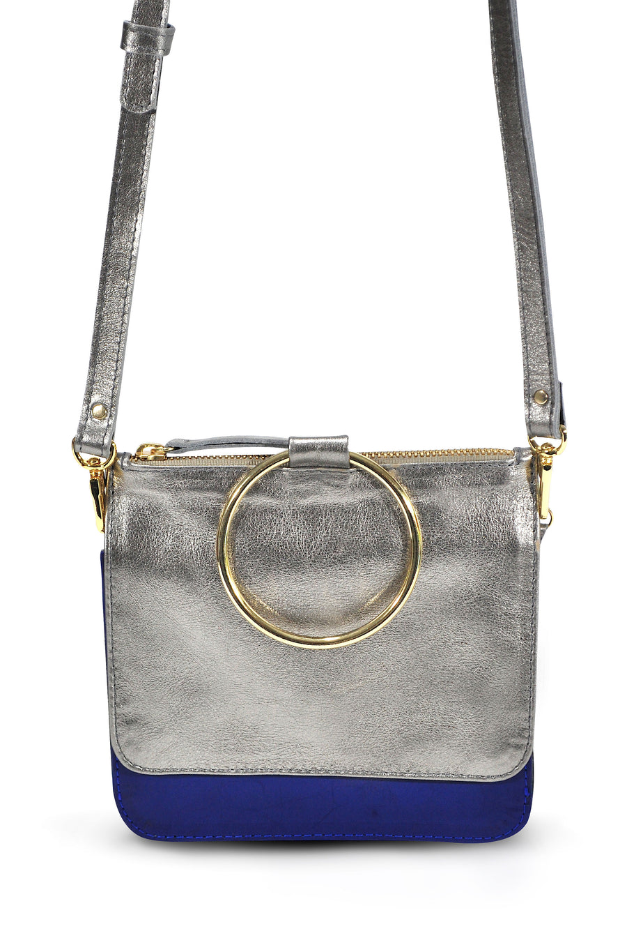 Joy Leather Cross Body Pewter - Positive Elements