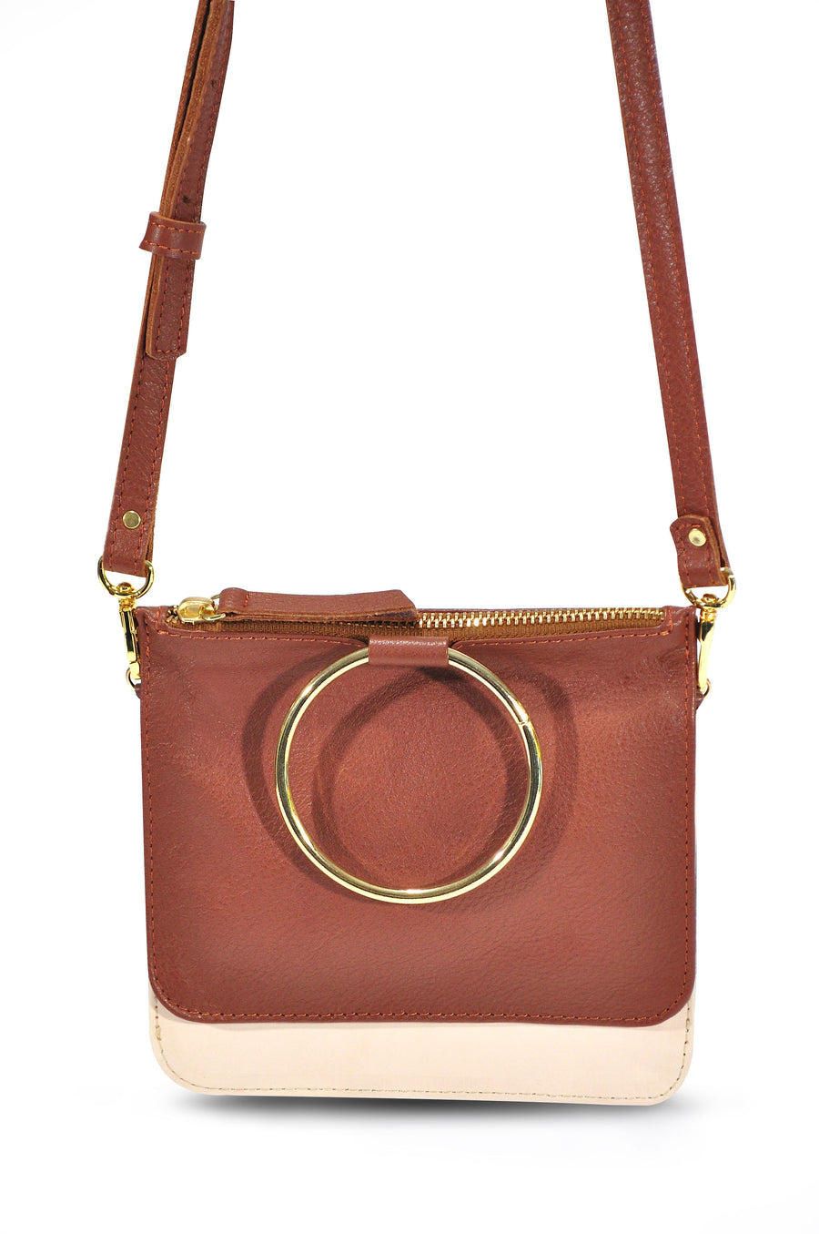 Joy Leather Cross Body Whiskey/Oatmeal - Positive Elements