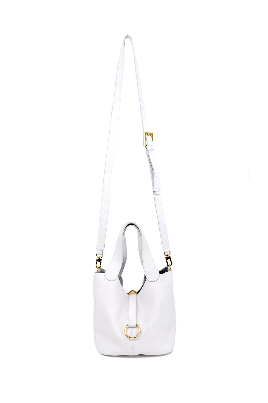 Jojo Leather Bag White - Positive Elements