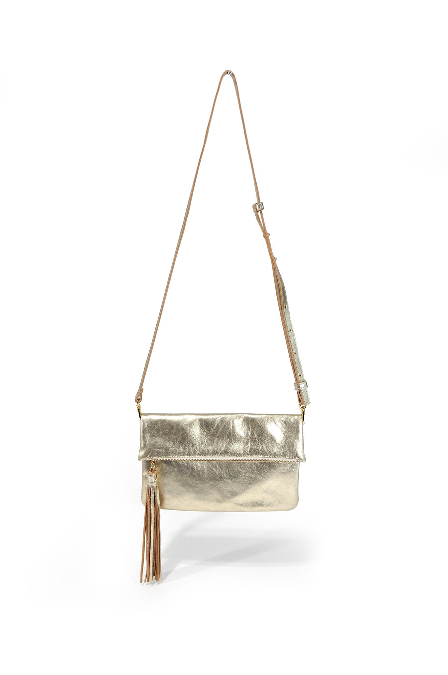 Lovely Leather Crossbody Gold - Positive Elements
