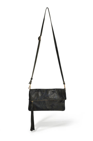 Tassel Leather Crossbody - Green Camo - Positive Elements