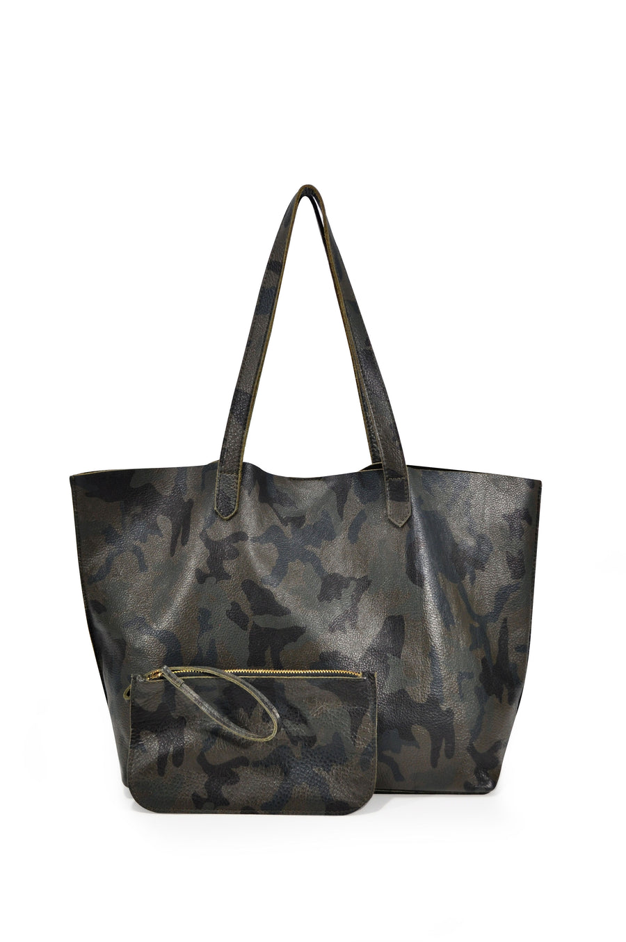 Edge Leather Tote Green Camo - Positive Elements