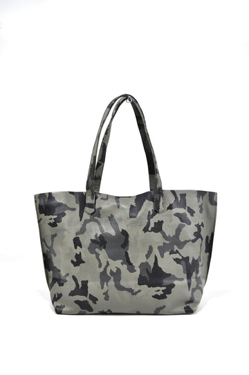 Edge Leather Tote Gray Camo - Positive Elements