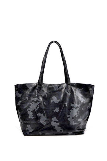 Camo Edge Leather Tote - Navy Camo - Positive Elements