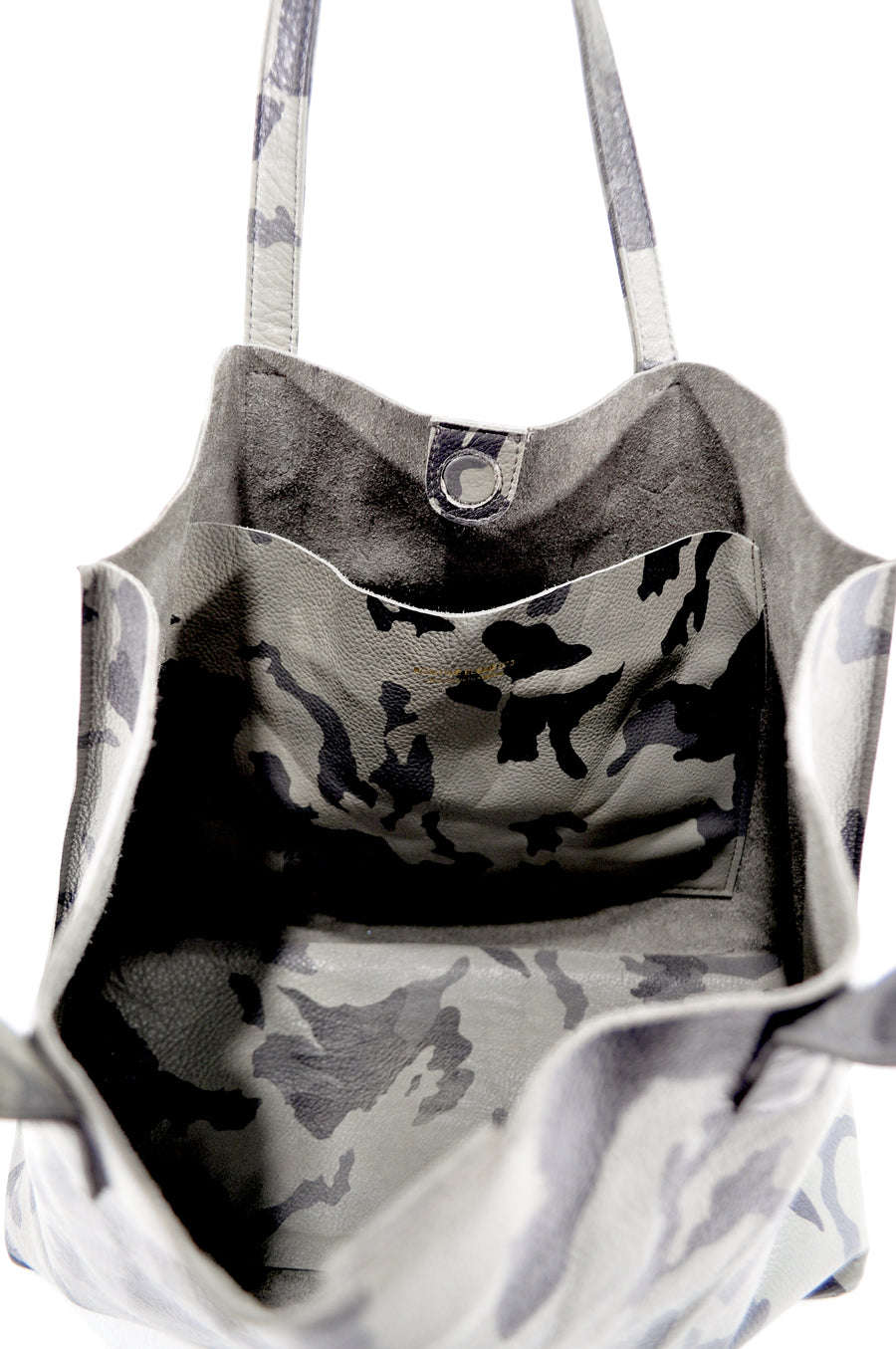 Edge Tote in Gray Camo Leather - Positive Elements