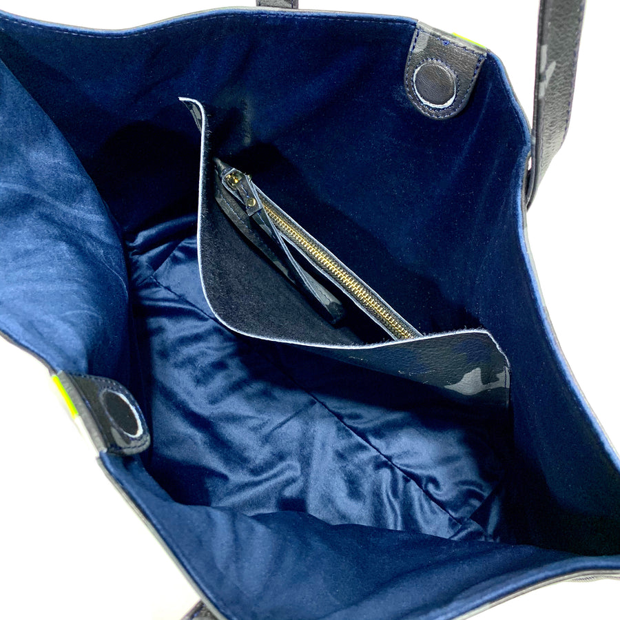 Edge Leather Tote Navy Camo - Positive Elements