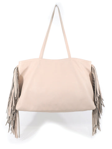 Leather Fringe Tote - Sand - Positive Elements