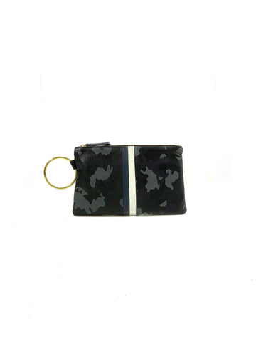 Gavi Leather Clutch- Navy Camouflage with Navy/White - Positive Elements