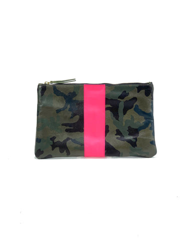 Jessi Clutch Green Camouflage with Hot pink - Positive Elements