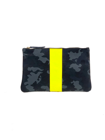 Jessi Clutch Navy Camouflage with Yellow - Positive Elements