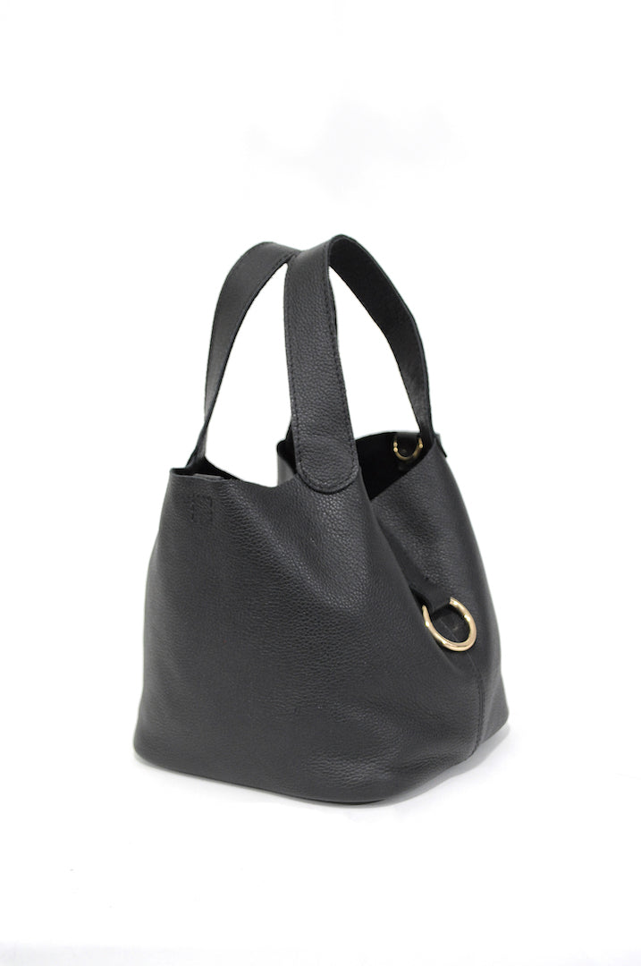 Jojo Leather Bag Black - Positive Elements