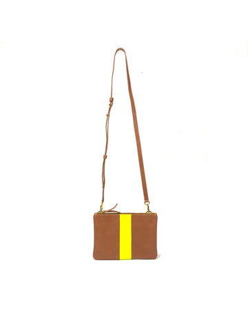 Kay Crossbody Tan with Hot Yellow - Positive Elements