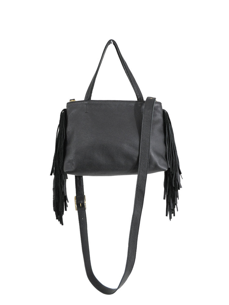 Mini Fringe Tote - Black - Positive Elements