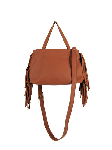 Mini Fringe Tote - Brown - Positive Elements