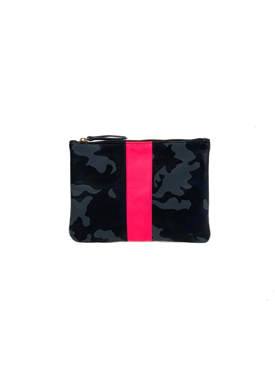 Jessi Small Clutch Navy Camouflage with Hot pink - Positive Elements