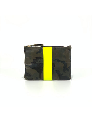 Jessi  Small Clutch Green Camouflage with Yellow - Positive Elements