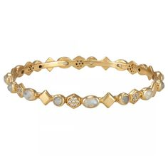 Graham Stone Bangle Moonstone White CZ