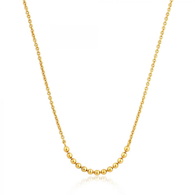 Modern Multiple Balls Necklace-Gold