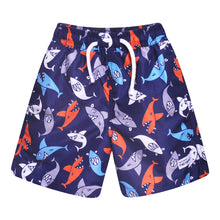 Load image into Gallery viewer, Flap Happy-Silly Sharks Swim Trunks