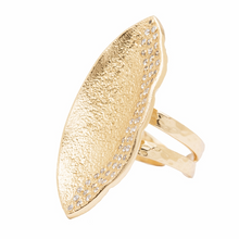 Load image into Gallery viewer, Mademoiselle Pod Ring Gold White CZ