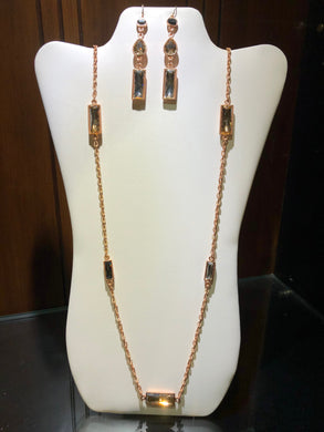 Diana Warner-Rosegold Layering Necklace w/ Swarovski