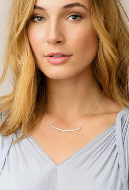 Taner Bar Small Necklace-Silver