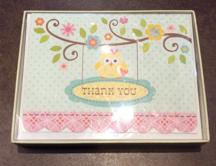 Happy Girl-Baby Thank you Notes