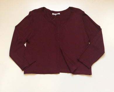 Maroon 3/4 Sleeve Short Cardigan