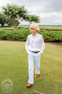 The Beaufort Bonnet Company-Prep School Pants-Breakers Blue Seersucker with Buckhead Blue Stork