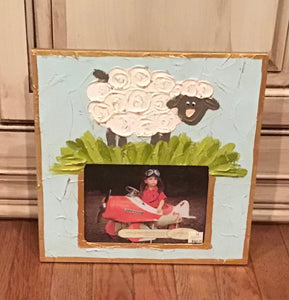 Blue Lamb Photo Frame
