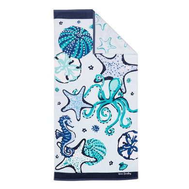 Mint Sea Life-Double Sided Beach Towel