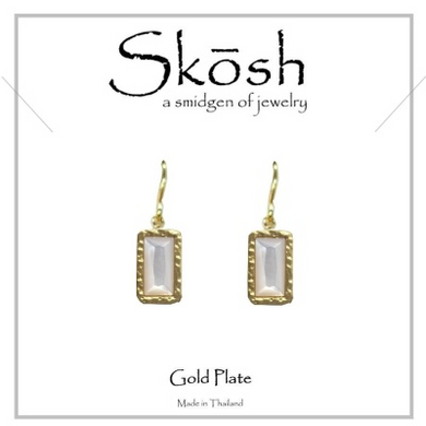 Skosh Mother of Pearl Earrings-Gold over Sterling Silver