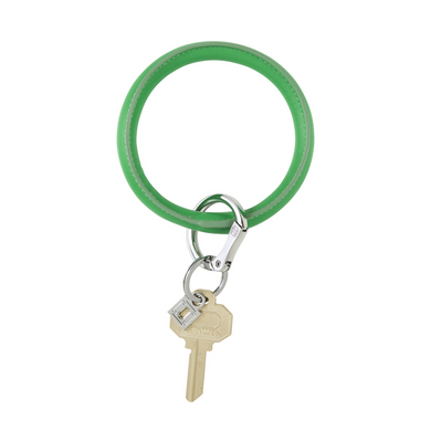Vegan Leather Big O® Key Ring - In The Grass