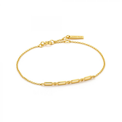 Modern Solid Bar Bracelet-Gold