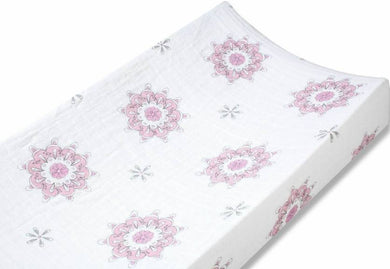 Classic Changing Pad Cover-For the Birds Medallion