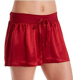 PJ Harlow-Mikel Satin Boxer Shorts-Red