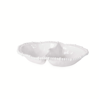 VIDA Algeria White Double Dip Bowl
