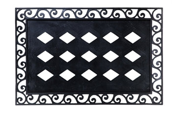 Embossed Floor Mat Tray-Cutout Scroll
