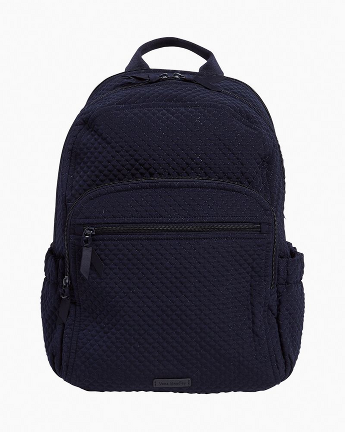 Classic Navy Microfiber-Campus Backpack