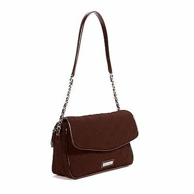 Chain Shoulder Bag-Classic Expresso Microfiber