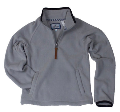 Properly Tied-LIL DUCKLINGS AUSTIN MICROFLEECE PULLOVER-GREY