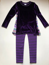 Load image into Gallery viewer, Daisy Jayne-Purple Velvet Pant Set