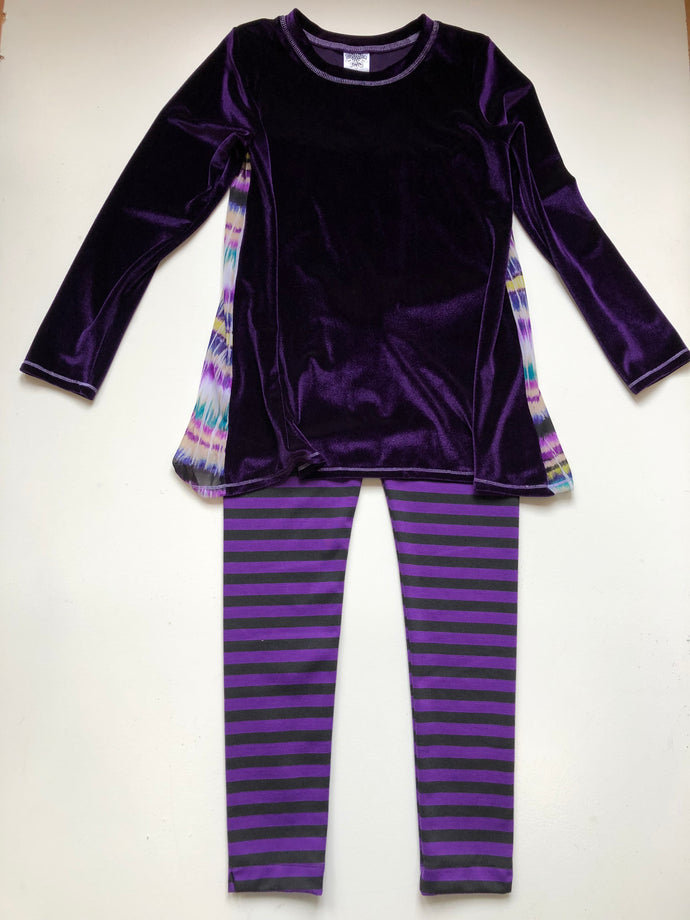Daisy Jayne-Purple Velvet Pant Set