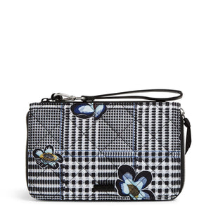 Bedford Plaid Performance Twill-RFID On the Go Wristlet