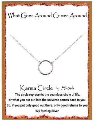 Karma Necklace-Sterling Silver