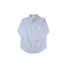 Load image into Gallery viewer, TBBC-Dean's List Dress Shirt Park City Periwinkle Check