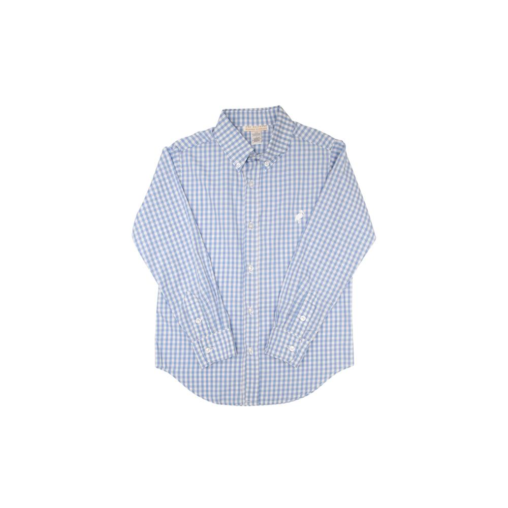 TBBC-Dean's List Dress Shirt Park City Periwinkle Check