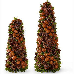 "Brown Gourd and Pinecone Cone Trees(2 sizes 18"" or 24"")"