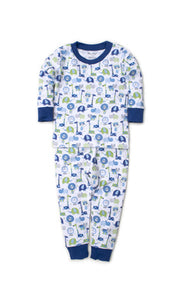Kissy Kissy-Boys Snug Fit Pajama Set-Jazzy Jungle Blue
